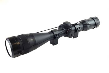 EB Optimate 3-18x50 30mm AO IR Mil Dot Reticle Rifle Scope + 9-11mm Mounts Opti-62